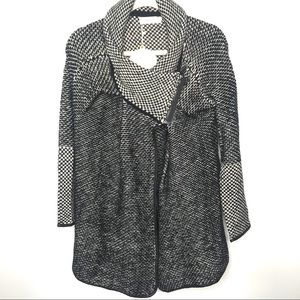 Simply Couture blk & cream sweater jacket SZ M